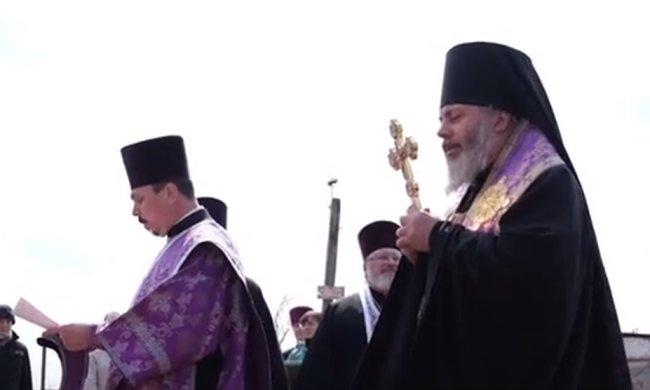 В России провели крестный ход против коронавируса в небе. Фото: скриншот Youtube