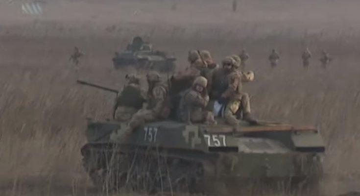 На Донбассе идет ожесточенный бой, фото: скриншот с youtube