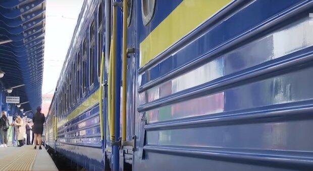 Поезд «Укрзализныци». Фото: YouTube, скрин