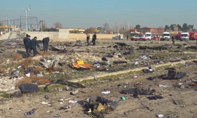 Место крушения украинского самолета, фото: скриншот с YouTube