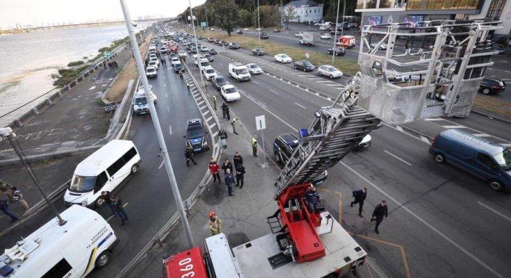 Ситуация на мосту в Киеве