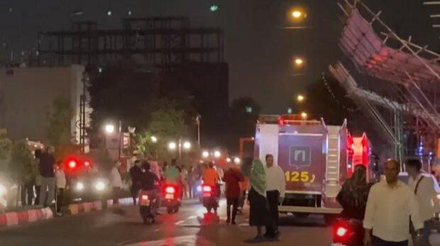 Взрывы в Тегеране. Фoто: скриншот Youtube