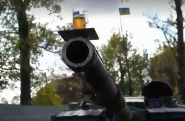 Тестирование танка пивом. Фото: скриншот видео Facebook
