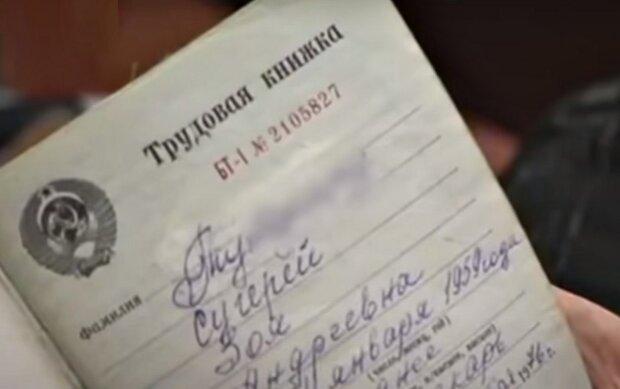 Трудовая книжка СССР. Фото: скриншот YouTube-видео.