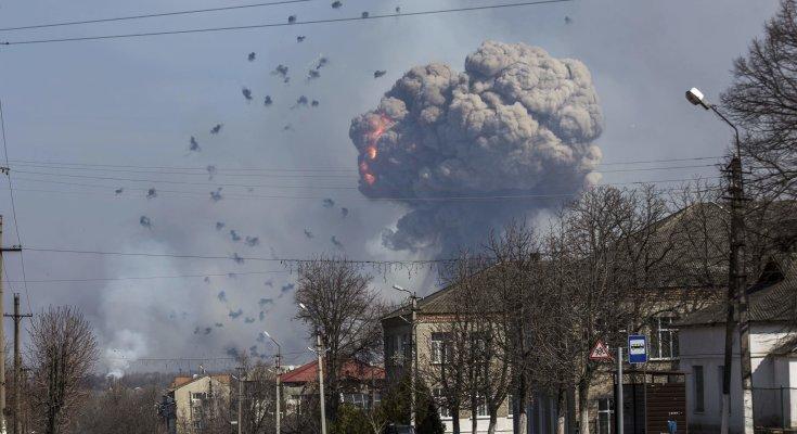 Взрывы на военных складах в Балаклее
