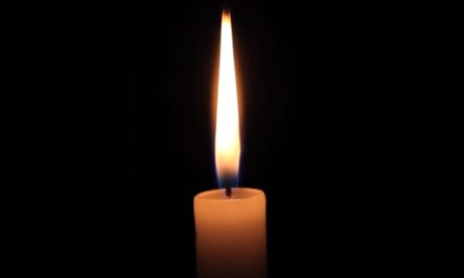 Траурна свічка. Фото: скріншот YouTube-відео