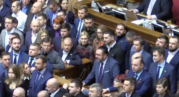 Партія Слуга народу.  Фото: скріншот засідання Верховної Ради