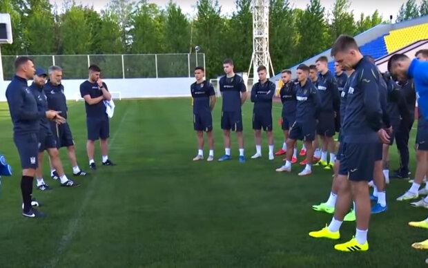 Футбольная сборная Украины. Фото: скриншот YouTube-видео.