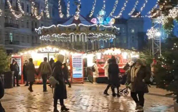Новый год в Киеве. Фото: скриншот Youtube-видео