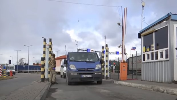 На границе с Польше заработал ещё один КПП. Фото: скриншот Youtube