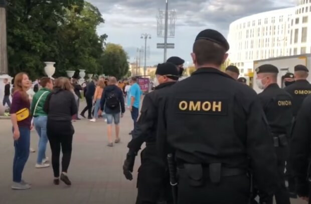 Акции протеста в Беларуси. Фото: DW, скрин