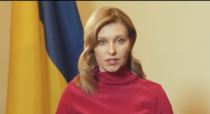 Елена Зеленская. Скриншот видеообращения