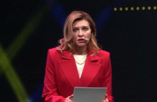 Елена Зеленская. Фото: скриншот Youtube