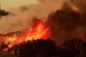 Пожар в Украине. Фото: скриншот YouTube
